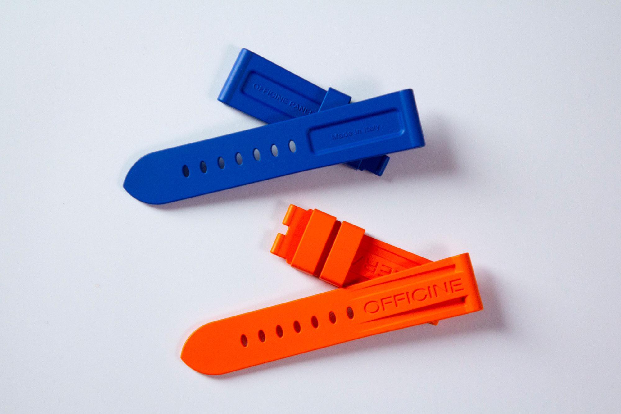 Mestel rubber watchstraps - fluorescent colours